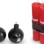 Свеча в виде бомбы