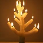 Свеча в виде коралов