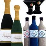 фужеры и бутылки