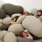 подушки в виде камней в детской