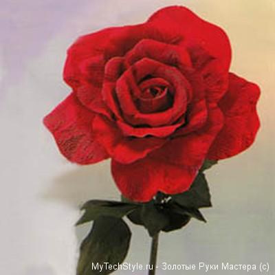 Выкройка для розы из гофрированной бумаги фото 672
