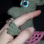 Крыса девочка крючком. Обаятельные пальчики. Автор схемы:  Natikso. 630р.